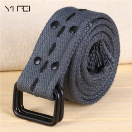 Double Loop Canvas Belts Woman WIDE BELT 2018 Mens Designer Belts High Quality Famous Brand Tactical Belt 9 Colors