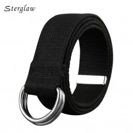 18color New Time-limited Double Loop Canvas Belts Woman Wide Belt 2018 Mens Designer High Quality Famous Brand Tactical U004