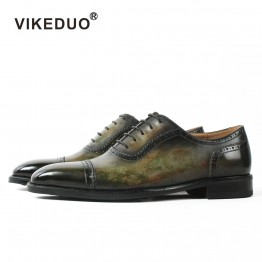 2018 Handmade Dyeing Men Leather Shoes Italy Designer Fashion Wedding Party Dance Male Dress Genuine Leather Mens Oxford Shoes