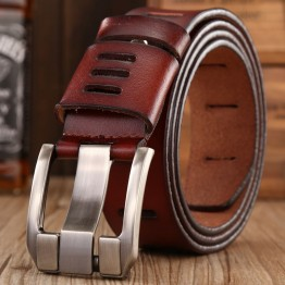 2018 hot sale brand luxury belt for men casual hollow designer belts genuine leather high quality strap mens coffee jeans