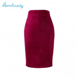 Pure color fashion girls pencil skirts girls slim mid faldas new design ladies Suede bodycon bottoms free shipping wholesale